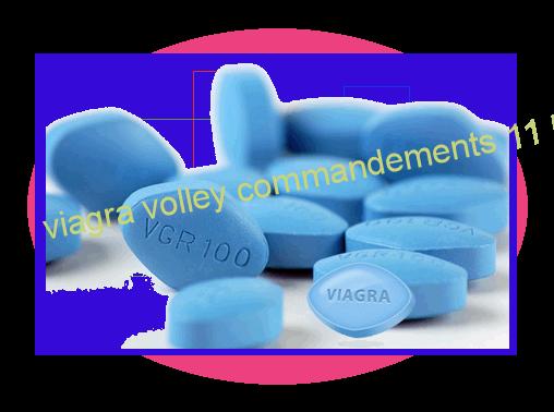 viagra volley commandements 11 les projet